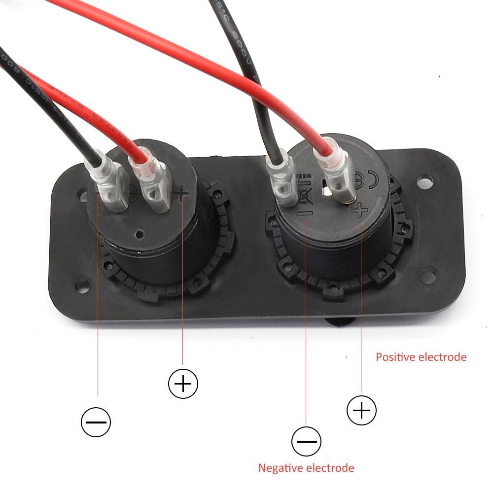 12v Outlet Socket Jack Marine Dual Usb Car Charger